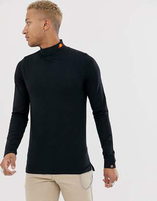 Ellesse Amica roll neck long sleeve in black