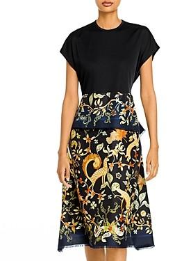 Lanvin Printed A Line Dress