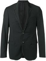 Lanvin grosgrain trimmed blazer - men - Cupro/Mohair/Wool - 48