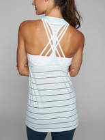 Athleta Stripe Mesh High Neck Chi Tank