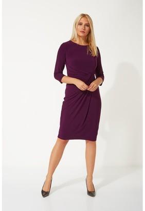 M&Co Roman Originals 3/4 sleeve twist waist dress