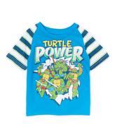 Freeze Blue TMNT 'Turtle Power' Raglan Tee - Toddler & Boys