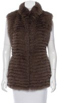 Jocelyn Fur Mock Collar Vest