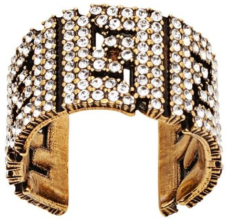 Fendi FF crystal embellished ring