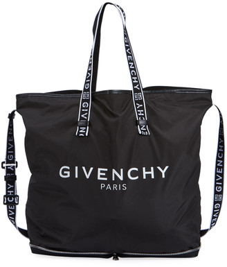 Givenchy Men's Light 3 Foldable Logo Nylon Tote Bag