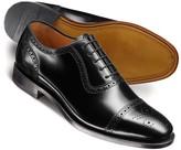 Charles Tyrwhitt Black Clarence toe cap brogue shoes