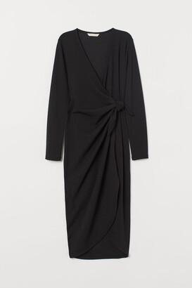 H&M V-neck wrap dress