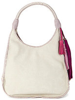 Steve Madden Steven by Lennox Tasseled Whip-Stitched Hobo Bag