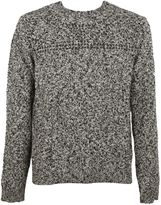 Valentino Black/white Studded Sweater