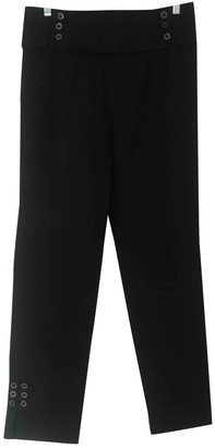 Mayle \N Black Cotton Trousers for Women