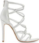 Dune Memphiss multi-strap metallic leather heeled sandals