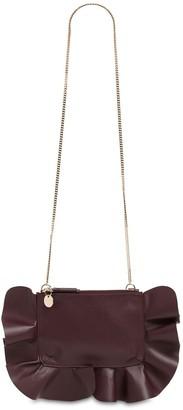 Red(V) Rock Ruffle Leather Shoulder Bag
