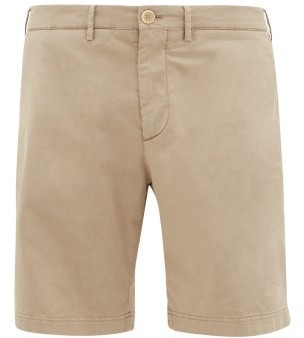 Brunello Cucinelli Stretch-cotton Twill Shorts - Mens - Beige