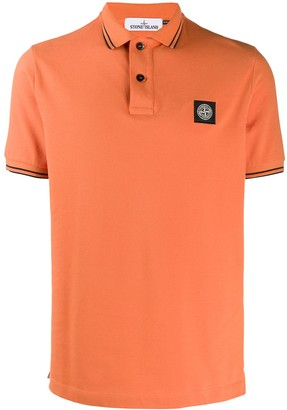Stone Island twin tipped polo shirt
