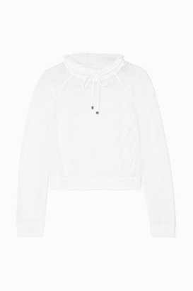 Koral Pump Mesh Sweater - White