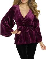 Felina Solid Long Sleeve Kimono