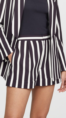 Alice + Olivia Conry Pleated Cuff Shorts