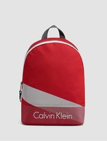 Calvin Klein Striped Logo Nylon Backpack
