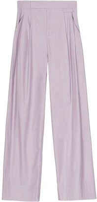 Equipment Pleat-Detailing Wide-Leg Trousers