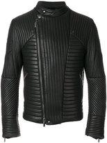 Emporio Armani quilted biker jacket