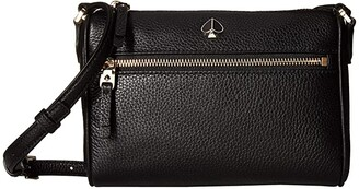 Kate Spade Polly Small Crossbody (Black) Cross Body Handbags