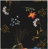 Reiss Dino - Floral Print Pocket Square in Black, Mens