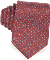 Lanvin Signature Printed Twill Silk Narrow Tie