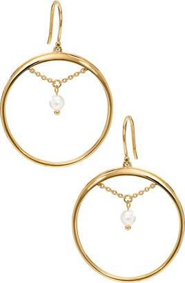 AJOA Imitation Pearl Hoop Earrings
