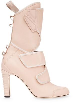 Fendi Touch-Strap Mid-Calf Boots