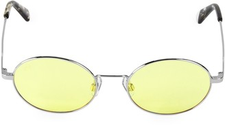 Web Small 51MM Metal Round Sunglasses