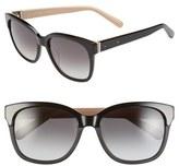 Bobbi Brown Women's 'The Gretta' 56Mm Colorblock Sunglasses - Black/ Nude