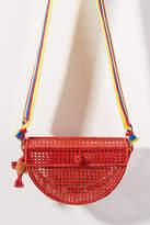 Serpui Marie Julie Straw Crossbody Bag