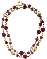Chanel Crystal & Bead Strand Necklace