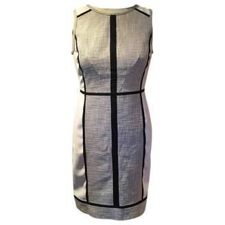 Ann Taylor White Cotton - elasthane Dress for Women