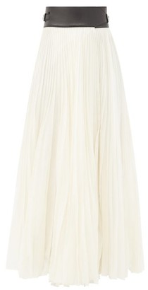 Gabriela Hearst Bartley Pleated Cotton-blend Voile Skirt - Ivory