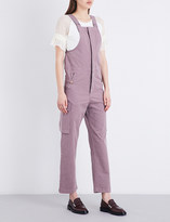 See by Chloe Straight high-rise cotton-twill jumpsuit