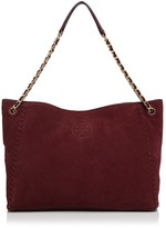 Tory Burch Marion Suede Chain Shoulder Slouchy Tote