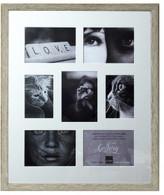 Profile Woodgrain Timber Photo Frame Holds 7 prints