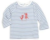 Petit Bateau Baby's Striped Graphic Long-Sleeve Tee