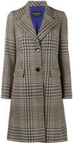 Etro wide collar check coat