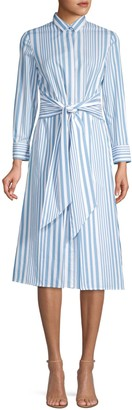 HUGO BOSS Debrana Cotton Stripe Shirtdress