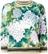 Dolce & Gabbana floral print jumper - women - Cotton/Polyester/Viscose - 38