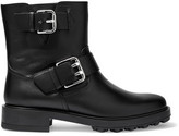 Tod's Buckled Leather Biker Boots - Black