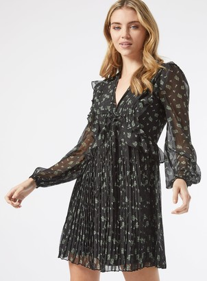 Miss Selfridge Black Paisley Print Fit and Flare Dress
