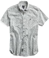 Todd Snyder Short Sleeve Wave Print Shirt in Ivory