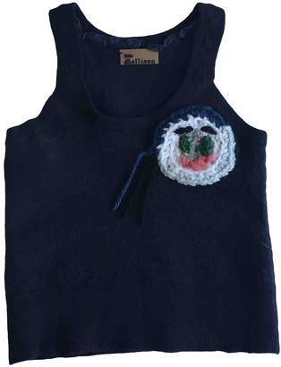 John Galliano Navy Wool Tops