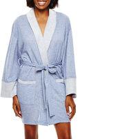 Asstd National Brand Mina Lisa Long-Sleeve Sweatshirt-Knit Robe