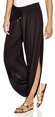 Laundry by Shelli Segal Solid Draped Swim Cover-Up Pants