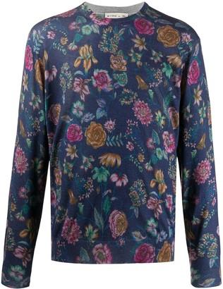 Etro Floral Print Knit Jumper