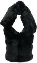 Simone Rocha faux fur tote bag